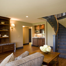 Traditional Basement by Shane D. Inman