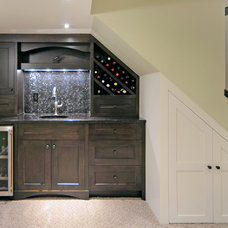 Contemporary Basement by Martin's Custom Finishing Ltd