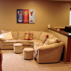 Modern Basement by Creative Carpentry