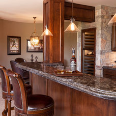 Traditional Basement by Cambria