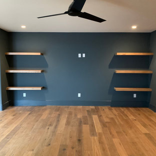 Large White Oak Floating Shelves