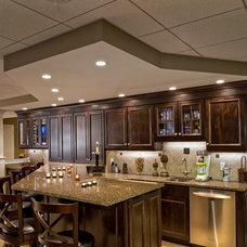 Traditional Basement by Boardwalk Design-Build Inc.