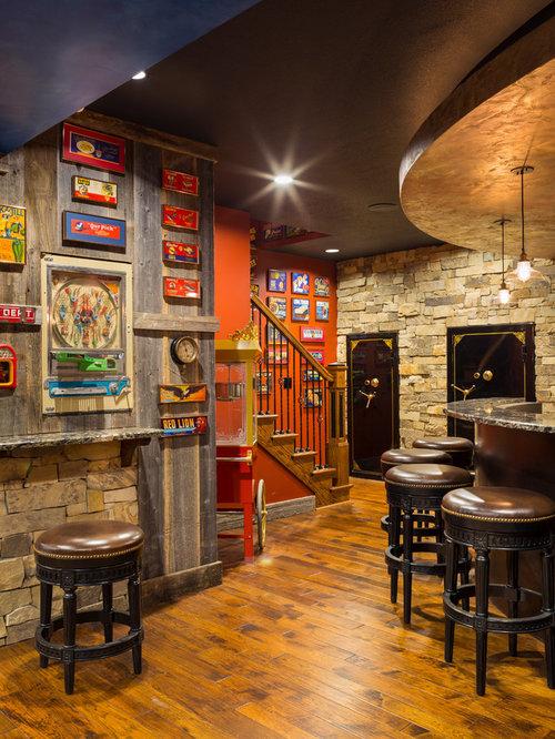 Lighting Basement Washroom Stairs: Best 20 Rustic Basement Ideas