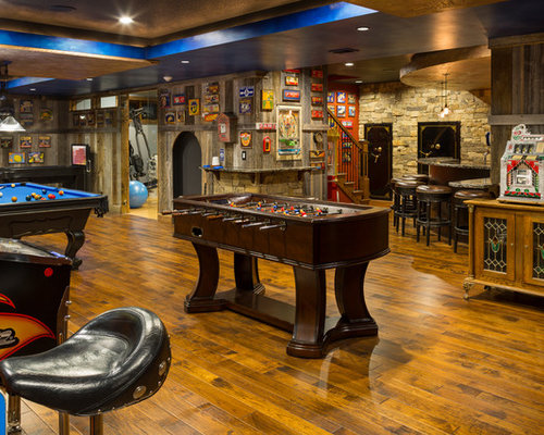 Basement Man Cave Home Design Ideas Pictures Remodel And