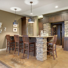 Transitional Basement by The Cabinet Shoppe