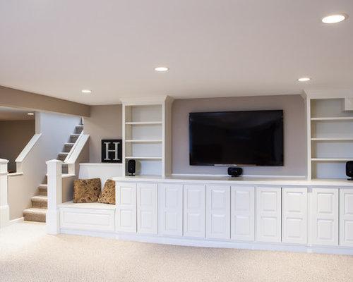 best basement built ins design ideas remodel pictures houzz