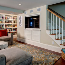 Traditional Basement by Board and Vellum