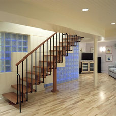 Contemporary Basement by Doreen Le May Madden