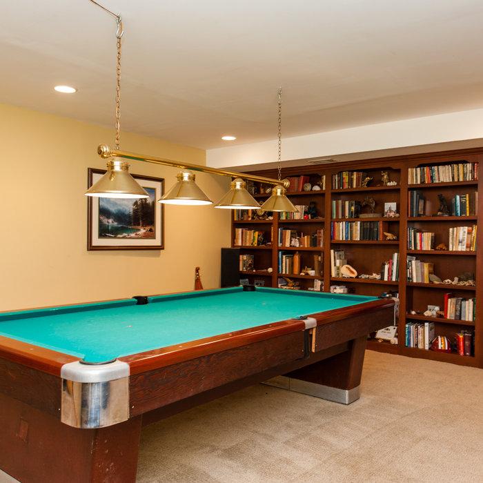 Linden Pool Room Built-Ins
