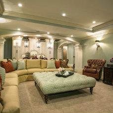 Traditional Basement by Lisman Studio Interior Design