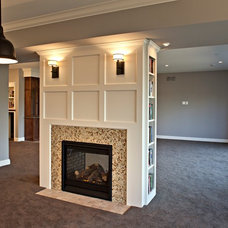 Traditional Basement by D.T. Carlson Co.
