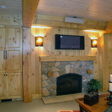 Traditional Basement by Forward Design Build