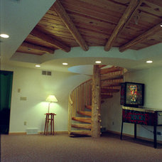 Rustic Basement by Allcorn Architects