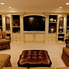 Traditional Basement by Redux Interior Design