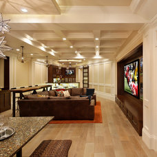 Transitional Basement by Allwood Construction Inc
