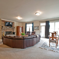 Traditional Basement by The Renner Companies