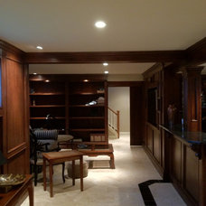 Traditional Basement by Dream Space / JCS Renovation and Contracting