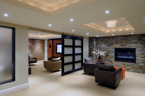 Contemporary Basement by Southam Design Inc