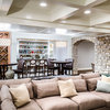 Basement of the Week: Stone Arches, a Fun Ceiling and a Secret Door