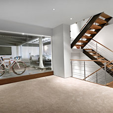 Contemporary Basement by Habitat Studio