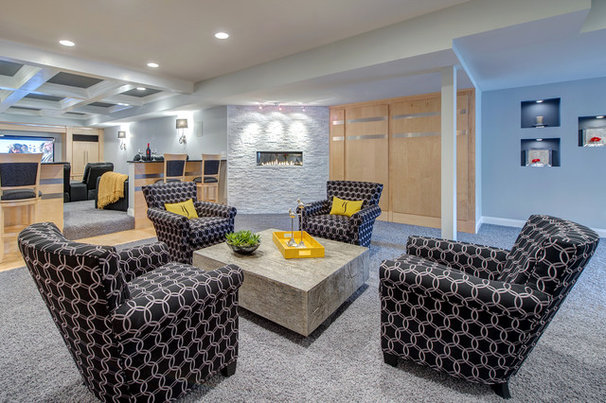Traditional Basement by Lorrien Homes & Remodeling