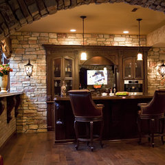 traditional basement by M B Wilson Interior Design