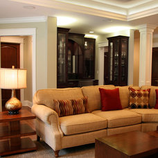 Traditional Basement by Interior Changes home design