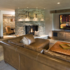 contemporary basement by John Kraemer & Sons