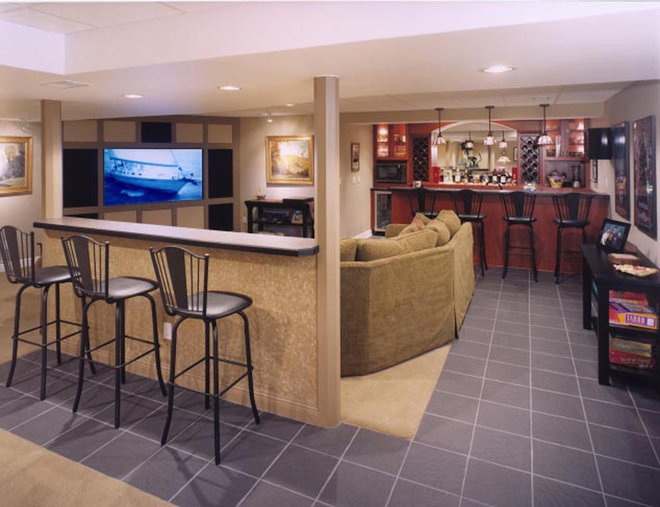 Modern Basement by Magnotta Builders & Remodelers