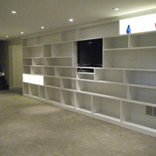 Contemporary Basement by Home Maintenance Solution, Inc.