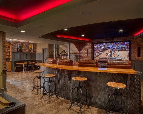 Basement Bar Behind Couch Houzz