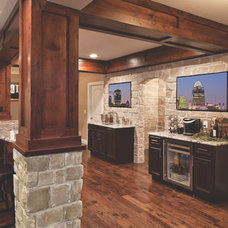 Traditional Basement by JDH Remodeling