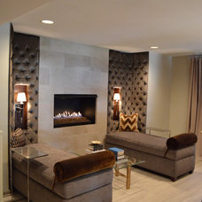 Contemporary Basement by Compass Design, llc
