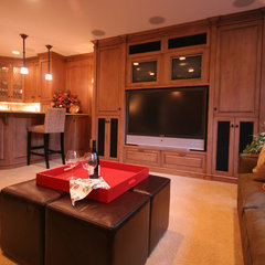 traditional basement by Project Partners Design, Inc.