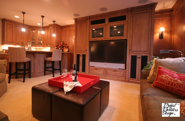 Traditional Basement by Project Partners Design
