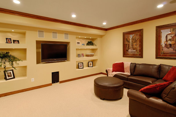 Contemporary Basement by BOWA