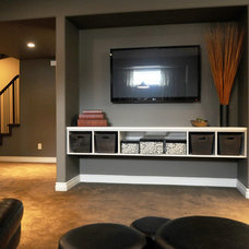 Contemporary Basement by Westridge Homes