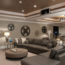 Contemporary Basement by The Design Source Ltd