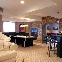 contemporary basement by M.J. Whelan Construction