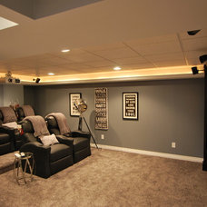 Contemporary Basement by Plan-2-Finish, Inc.