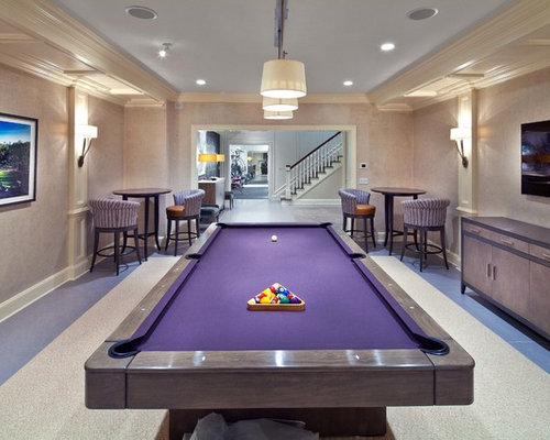 Purple Pool Table Houzz