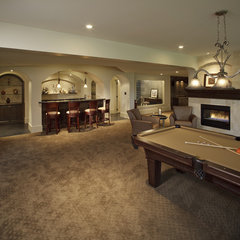traditional basement by A Collaborative Design Group