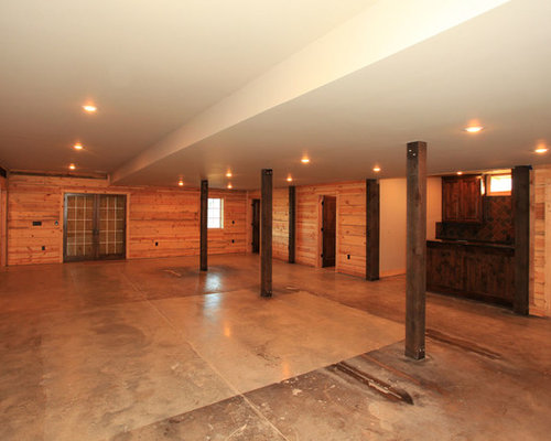 Rustic basement design ideas renovations photos for Rustic finished basement