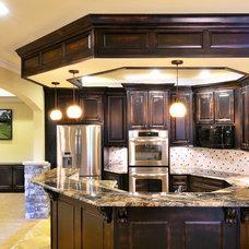 Traditional Basement by White Oak Renovations