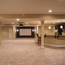 Traditional Basement by Thomas J. Pearson, Inc.