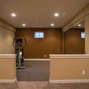 basement workout room  houzz