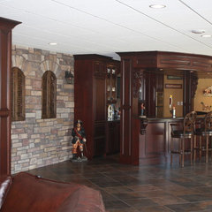 traditional basement by J. Powless Fine Cabinetry
