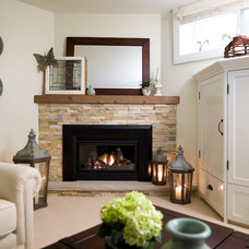 Traditional Basement by Laura Stein Interiors