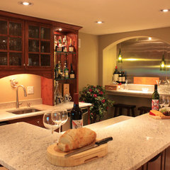 traditional basement by MATTHEW KRIER - Design Group Three - Milwaukee