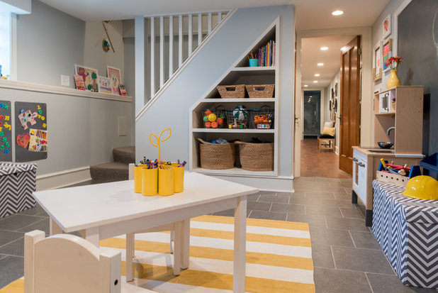 Transitional Basement by Foster Hill Design
